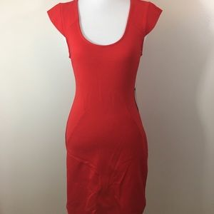 Express Bright Red Cap Sleeve Dress, size 6 NWT